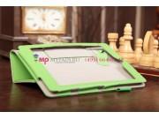 Фирменный чехол-обложка для Acer Iconia Tab A1-810/A1-811 зеленый натуральная кожа