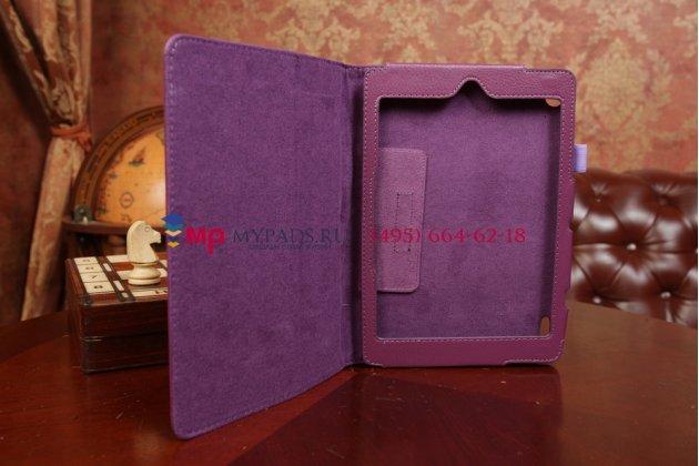 Чехол для acer iconia tab a1-811 фиолетовый кожаный