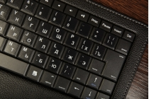 Чехол со съёмной Bluetooth-клавиатурой для планшетов Acer Iconia Tab A100/A101 черный кожаный + гарантия