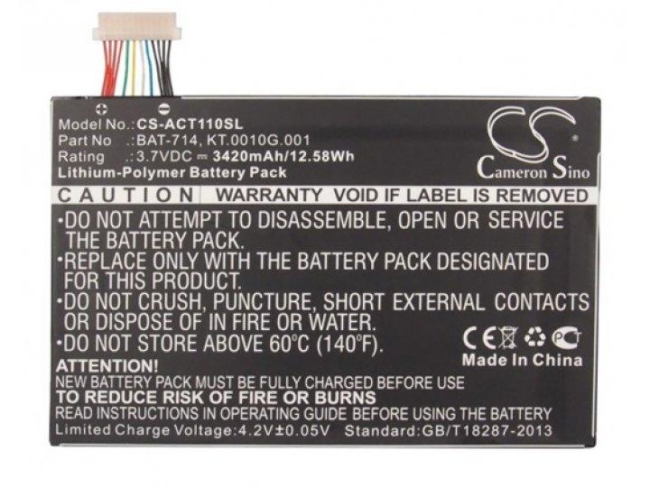 Аккумуляторная батарея 3420mah bat-714 на планшет  acer iconia tab a110/a111 + инструменты для вскрытия + гара..