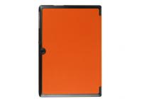 """Умный чехол-книжка самый тонкий в мире для acer iconia tab a3-a30/a31 """"il sottile"""" оранжевый кожаный"""