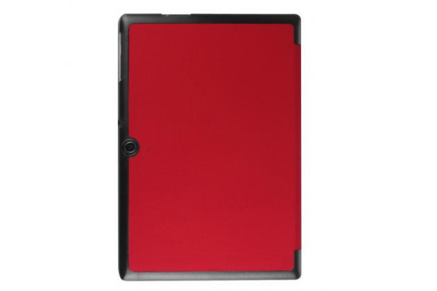 """Умный чехол самый тонкий в мире для планшета acer iconia tab a3-a30/a31 """"il sottile"""" красный кожаный"""