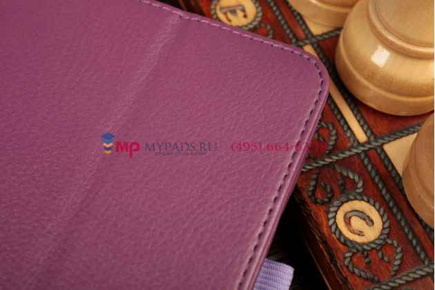 Чехол-обложка для acer iconia tab a3-a10/a3-a11 фиолетовый кожаный