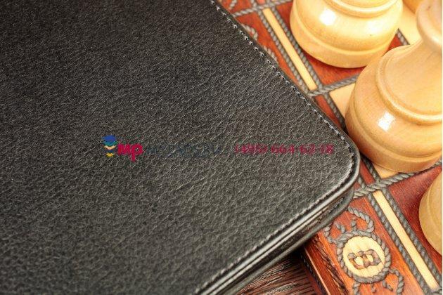 Чехол-обложка для acer iconia tab a3-a10/a3-a11 черный кожаный