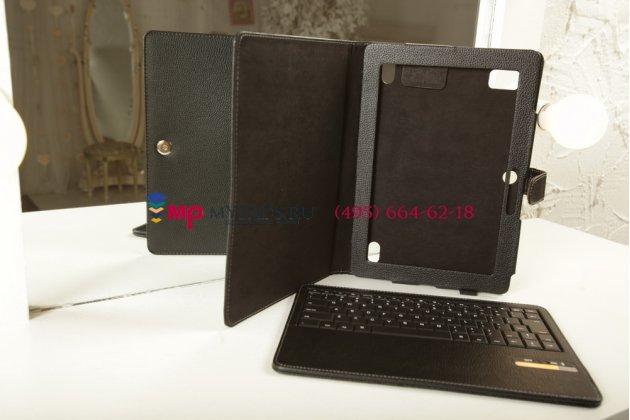 Чехол со съёмной клавиатурой для acer iconia tab a500/a501 черный кожаный + гарантия