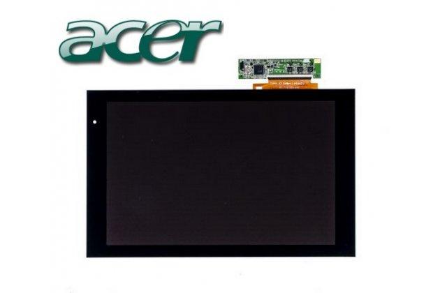 Lcd-жк-сенсорный дисплей-экран-стекло с тачскрином на планшет acer iconia tab a500/a501 черный и инструменты для вскрытия + гарантия