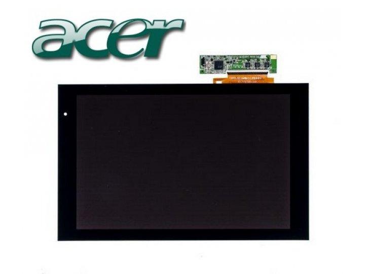Lcd-жк-сенсорный дисплей-экран-стекло с тачскрином на планшет acer iconia tab a500/a501 черный и инструменты д..