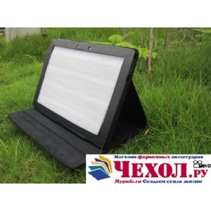 Фирменный чехол-обложка для Acer Iconia Tab A510/A511 черный кожаный