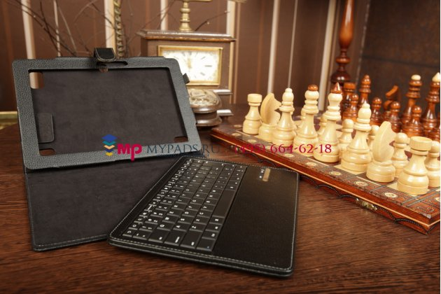 Чехол со съёмной клавиатурой для acer iconia tab a510/a511 черный кожаный + гарантия