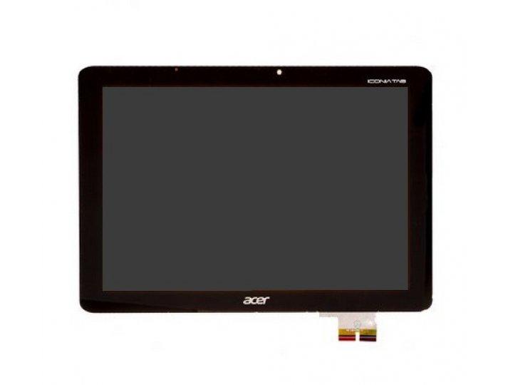 Lcd-жк-сенсорный дисплей-экран-стекло с тачскрином на планшет acer iconia tab a700/a701 черный и инструменты д..