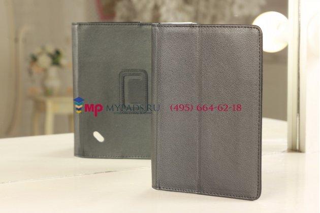 Чехол-обложка для acer iconia tab b1-710 черный кожаный