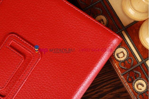 Чехол-обложка для acer iconia tab b1-a71 красный кожаный