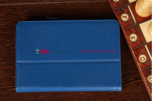 Чехол-обложка для acer iconia tab b1-a71 синий кожаный