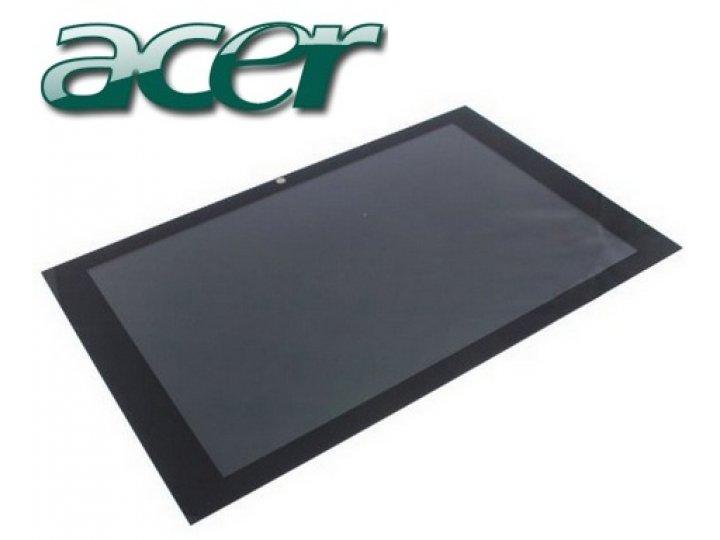 Lcd-жк-сенсорный дисплей-экран-стекло с тачскрином на планшет acer iconia tab w500/w501 черный и инструменты д..