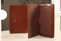 """Чехол-обложка для acer iconia tab w510/w511 каштановый кожаный """"премиум"""""""