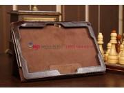 Фирменный чехол-обложка для Acer Iconia Tab W510/W511 коричневый кожаный