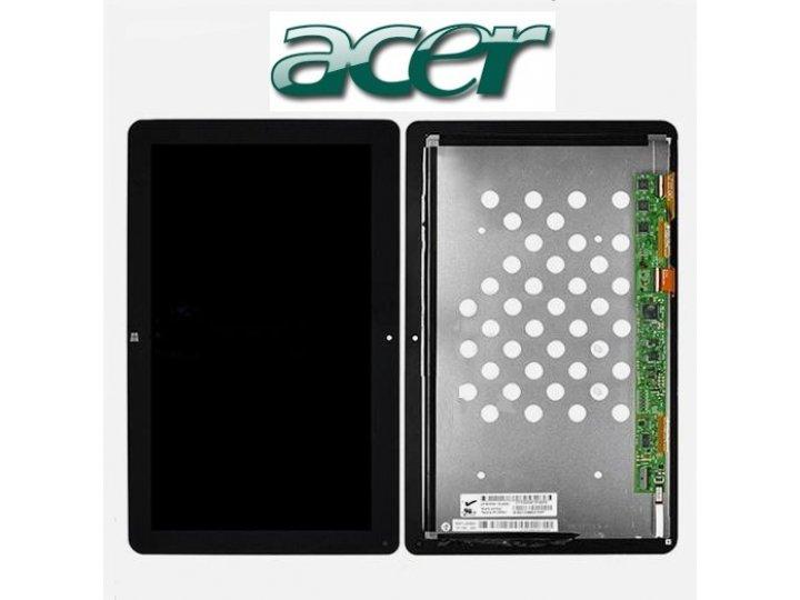 Lcd-жк-сенсорный дисплей-экран-стекло с тачскрином на планшет acer iconia tab w510/w511 черный и инструменты д..