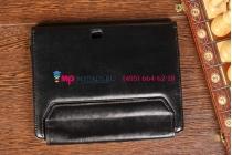 Чехол для acer iconia tab w510/w511 черный с секцией под клавиатуру кожаный