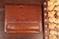 Чехол для acer iconia tab w5/w510/w511 с отделением под клавиатуру коричневый кожаный