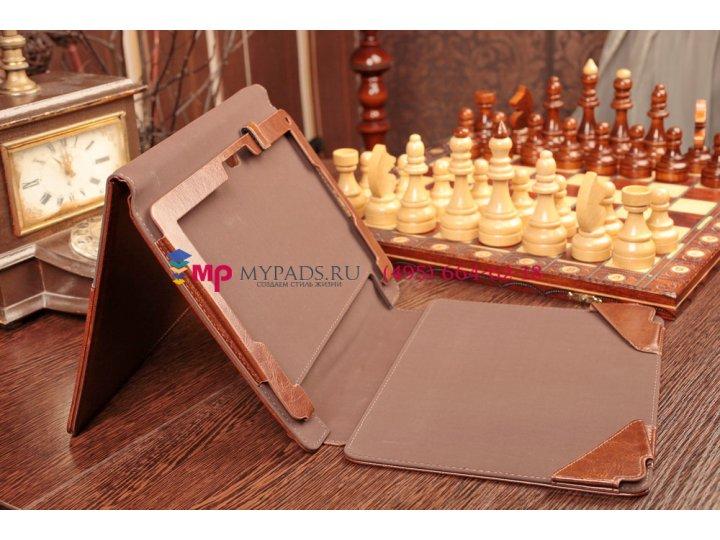 Чехол для acer iconia tab w5/w510/w511 с отделением под клавиатуру коричневый кожаный..