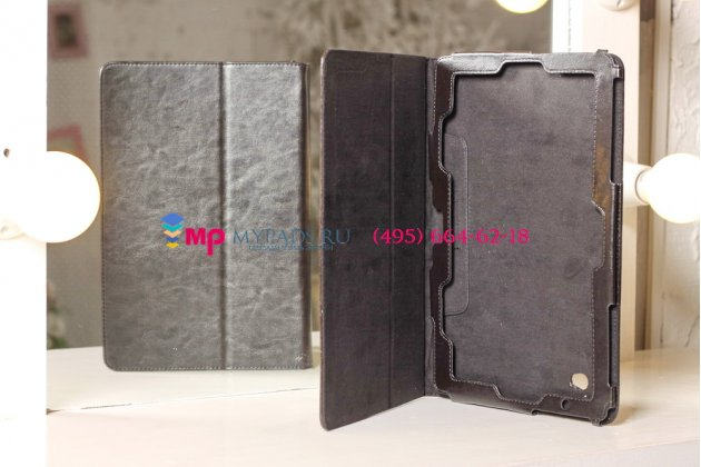 """Чехол-обложка для acer iconia tab w700/w701 черный кожаный """"премиум"""""""