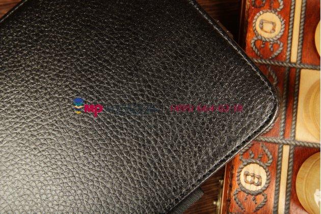 """Чехол для acer iconia tab w3-810/811 с мульти-подставкой и держателем для руки черный натуральная кожа """"deluxe"""" италия"""