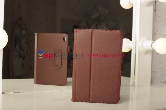Чехол-обложка для acer iconia tab w3-810/811 коричневый кожаный