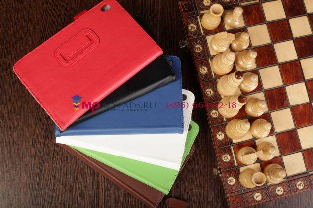 """Чехол-обложка для acer iconia tab w3-810/811 красный кожаный """"prestige"""" италия"""