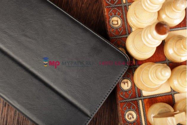 Чехол-обложка для acer iconia tab w3 черный кожаный
