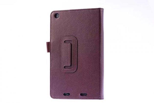 Чехол-обложка с подставкой для acer iconia tab one b1-730/b7-731hd коричневый кожаный