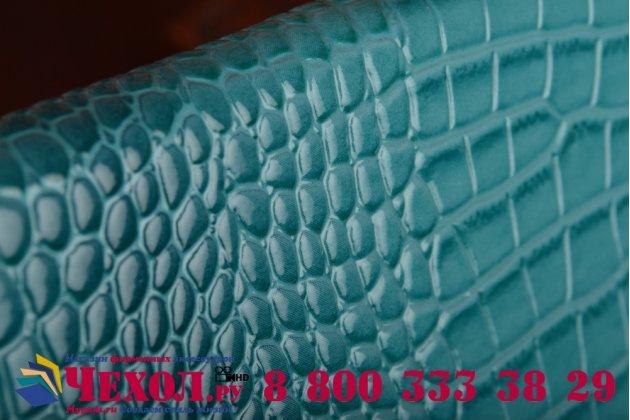Роскошный эксклюзивный чехол-клатч/портмоне/сумочка/кошелек из лаковой кожи крокодила для планшета acer iconia one b1-850. только в нашем магазине. количество ограничено.