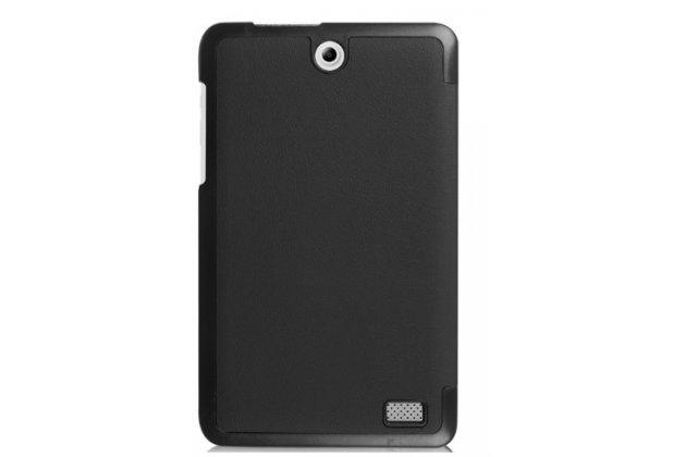 """Умный чехол самый тонкий в мире для планшета acer iconia one 8 b1-850-k0gl (nt.lc4ee.002) 8.0 """"il sottile"""" черный кожаный"""