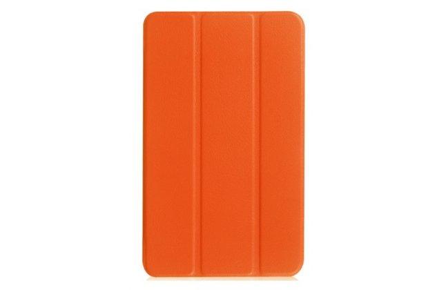 """Умный чехол самый тонкий в мире для планшета acer iconia one 8 b1-850-k0gl (nt.lc4ee.002) 8.0 """"il sottile"""" оранжевый кожаный"""