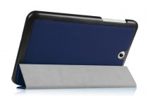 Фирменный умный чехол самый тонкий в мире для планшета Acer Iconia One B1-850 (NT.LC4EE.002) синий кожаный