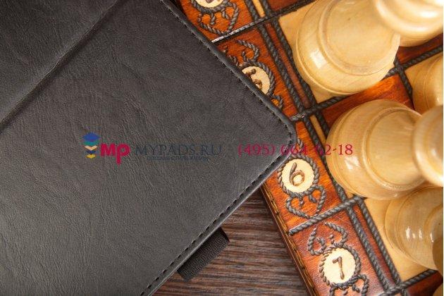 """Чехол обложка для acer iconia tab a1-830/a1-831 с визитницей и держателем для руки черный натуральная кожа """"prestige"""" италия"""