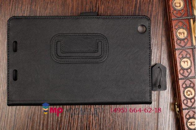 """Чехол обложка для acer iconia tab one b1-730/b7-731hd с визитницей и держателем для руки черный натуральная кожа """"prestige"""" италия"""