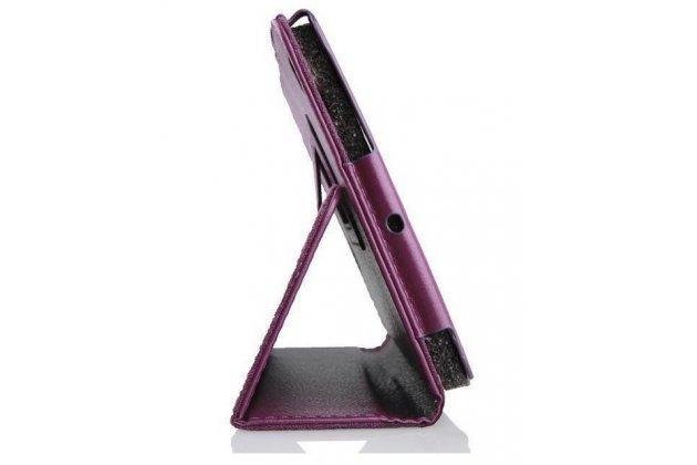 Чехол-обложка с подставкой для acer iconia tab one b1-730/b7-731hd фиолетовый кожаный
