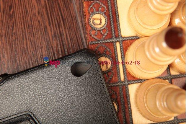 """Чехол открытого типа без рамки вокруг экрана с мульти-подставкой для acer iconia tab w4-820/w4-821 черный кожаный """"deluxe"""""""
