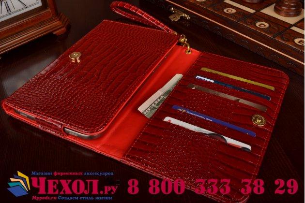 Роскошный эксклюзивный чехол-клатч/портмоне/сумочка/кошелек из лаковой кожи крокодила для планшета acer iconia talk 7 b1-723. только в нашем магазине. количество ограничено.