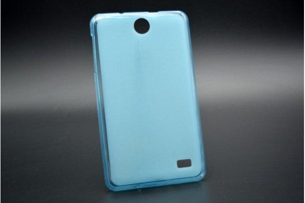 """Ультра-тонкая полимерная из мягкого качественного силикона задняя панель-чехол-накладка для планшета acer iconia talk 7 b1-723 3g 7.0"""" голубая"""