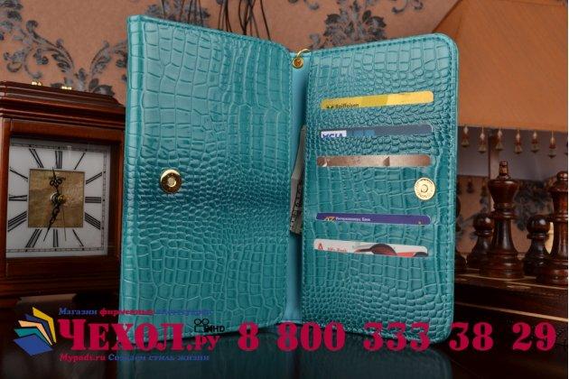 Роскошный эксклюзивный чехол-клатч/портмоне/сумочка/кошелек из лаковой кожи крокодила для планшета acer iconia talk s (a1-734). только в нашем магазине. количество ограничено.