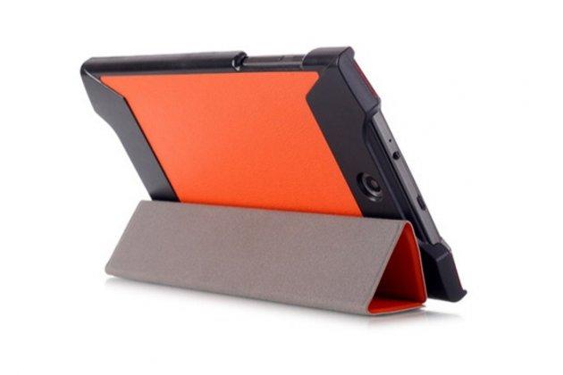 """Умный тонкий легкий чехол для acer predator 8 gt-810 """"il sottile"""" оранжевый пластиковый"""