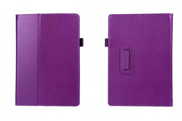 Чехол-книжка для acer aspire switch 10 (sw5-011-17wl) фиолетовый кожаный