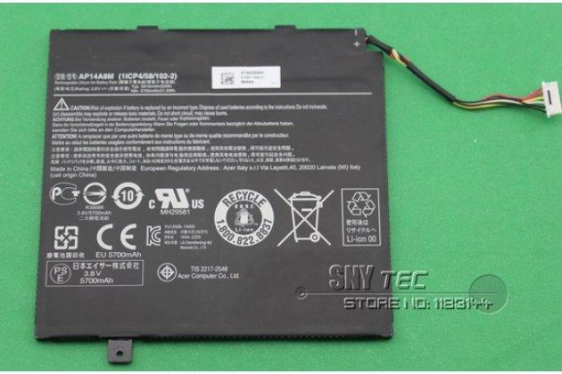 Аккумуляторная батарея 5910mah ap14a8m/ap14a4m  на планшет  acer aspire switch 10 sw5-011/ sw5-012/acer iconia tab 10 a3-a30/sw5-012-15rj/sw5-012/sw5-011 + инструменты для вскрытия + гарантия