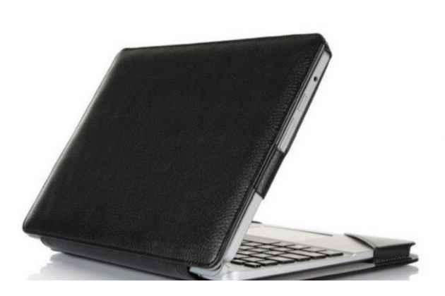 Чехол для acer aspire switch 10 (sw5-012) dock keyboard с отделением под клавиатуру черный кожаный