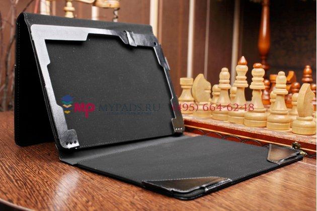 Чехол для acer aspire switch 10 (sw5-011) dock keyboard с отделением под клавиатуру черный кожаный