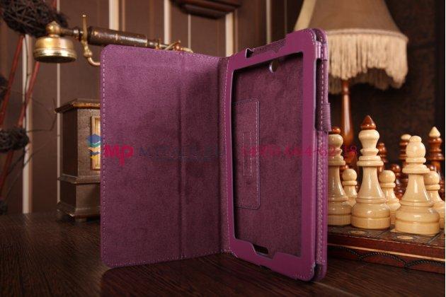 Чехол-обложка для acer iconia tab a1-713hd фиолетовый кожаный