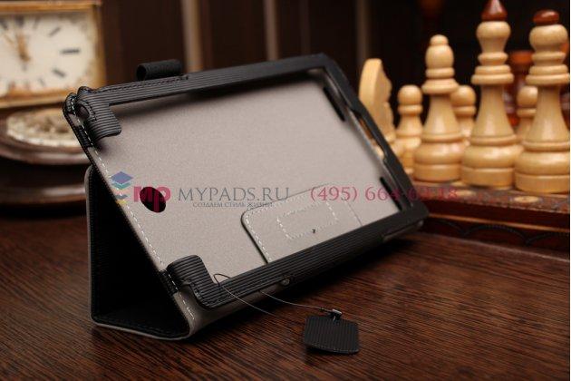 """Чехол-книжка для acer tab 7 a1-713/a1-713hd с мягкой противоударной подкладкой черный """"prestige"""" италия"""