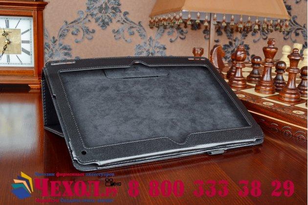 Чехол обложка с подставкой для acer aspire switch 10 (sw5-011) черный кожаный