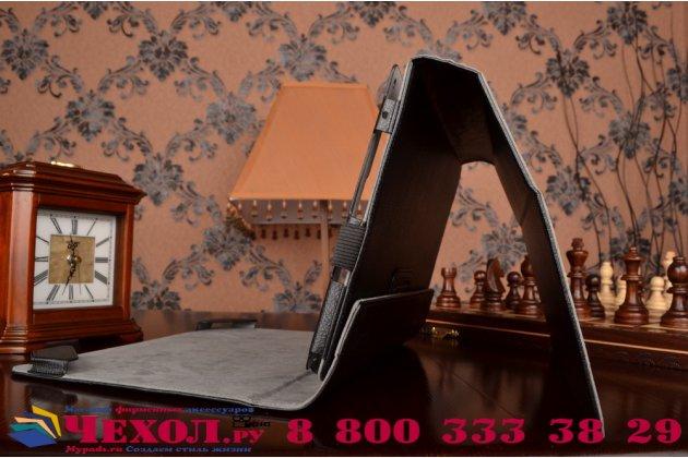 Чехол-футляр для acer aspire switch 11 / 11 v (sw5-111p / 171p) с отделением под клавиатуру /док станцию черный кожаный